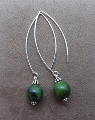 Abundance ~ BC Jade ~ Bow Dangle Earrings