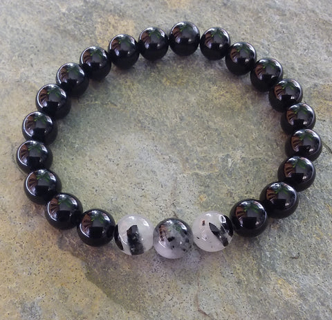 Protection ~ Black Tourmaline ~ Stretch Bracelet
