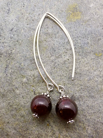 Passion ~ Red Garnet  ~ Bow Dangle