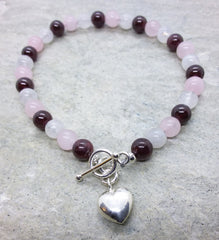 Goddess ~ Toggle Heart Bracelet