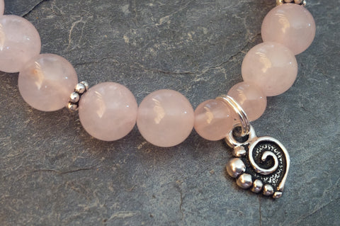 Love ~ Rose Quartz ~ Stretch Bracelet