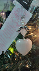 Rose Quartz Angel Keepsake/Ornament/Necklace