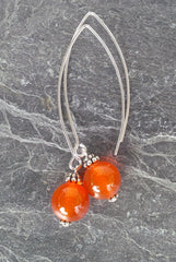Creativity ~ Carnelian ~ Bow Dangle Earrings