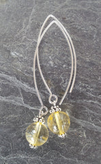 Mental Clarity ~ Citrine ~ Bow Dangle Earrings