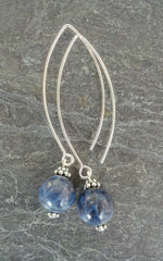 Communication ~ Sodalite ~ Bow Dangle Earrings