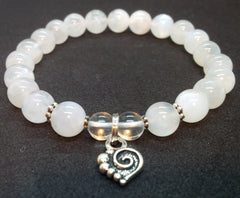 Self-awareness ~  Rainbow Moonstone ~ Stretch Bracelet