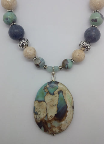 Dragon Agate Pendant Necklace