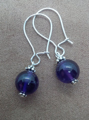 Amethyst - Intuition - Locking Hook Sleeper Earrings