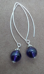 Intuition ~ Amethyst ~ Bow Dangle Earrings