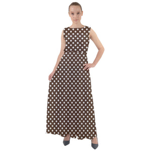 coffee-2500x2500 Chiffon Mesh Maxi Dress