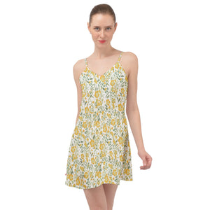 Little Yellow Summer Time Chiffon Dress