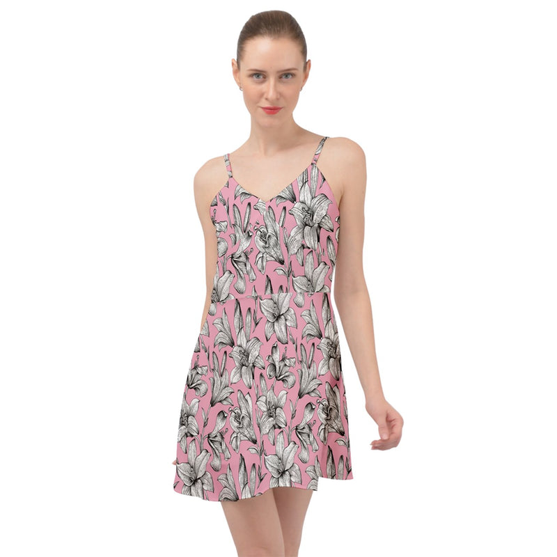 Pink Lady Summer Time Chiffon Dress