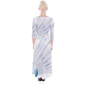 Badminton_Shuttlecock_PNG_Clipa_Art_Image Quarter Sleeve Wrap Maxi Dress