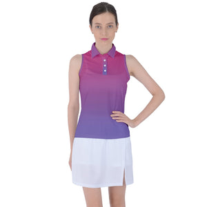 Gradient Women's Sleeveless Polo Tee