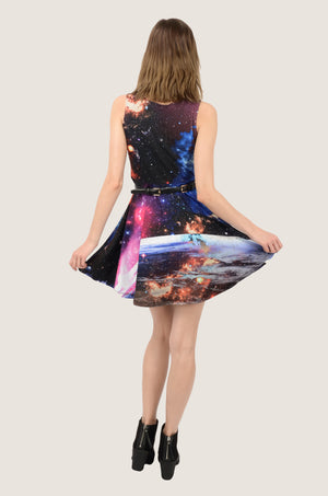 Dark Moon and Stars Skater Dress