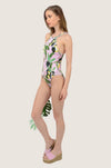 Summer Pear High Neck One Piece Swimsuit