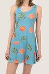 Summer Orange Cotton Racerback Dress