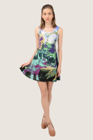 Dino Theater Skater Dress