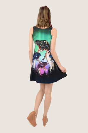Dinosaur Night Skater Dress