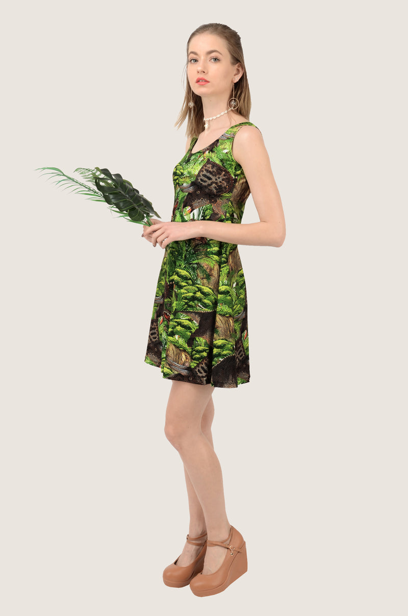Dinosaur Safari Skater Dress