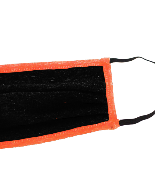Black/Orange Cloth Mask - Aphillyated