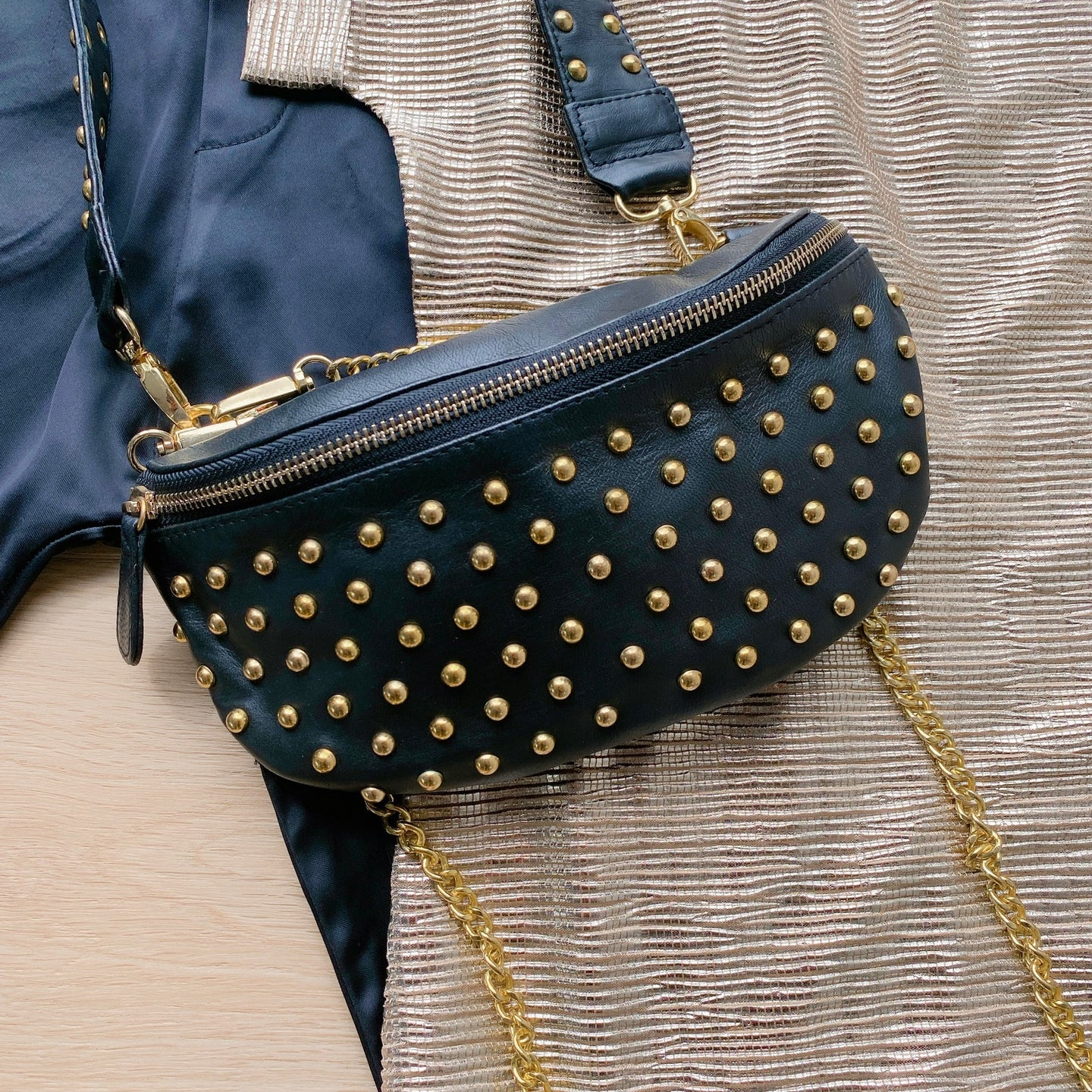 Gold Studded Bumbag