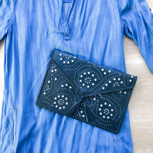 Boho Clutch in Black