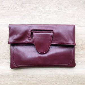 Classic Clutch in Burgundy