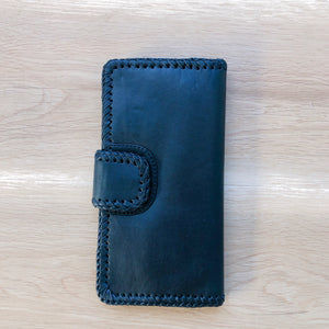 Cross Stitch Wallet in Black