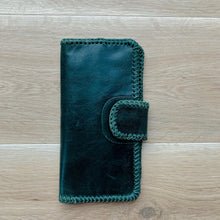 Load image into Gallery viewer, Cross Stitch Wallet in Forest Green