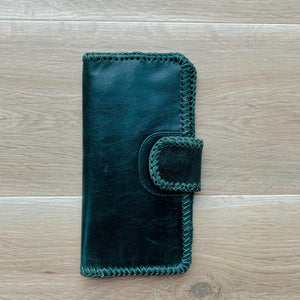Cross Stitch Wallet in Forest Green