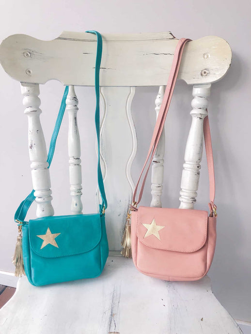 Girls Leather Star Bag