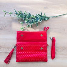 Load image into Gallery viewer, Cross Stitch Clutch in Red