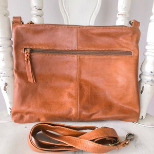 Dark Tan Leather Handbag