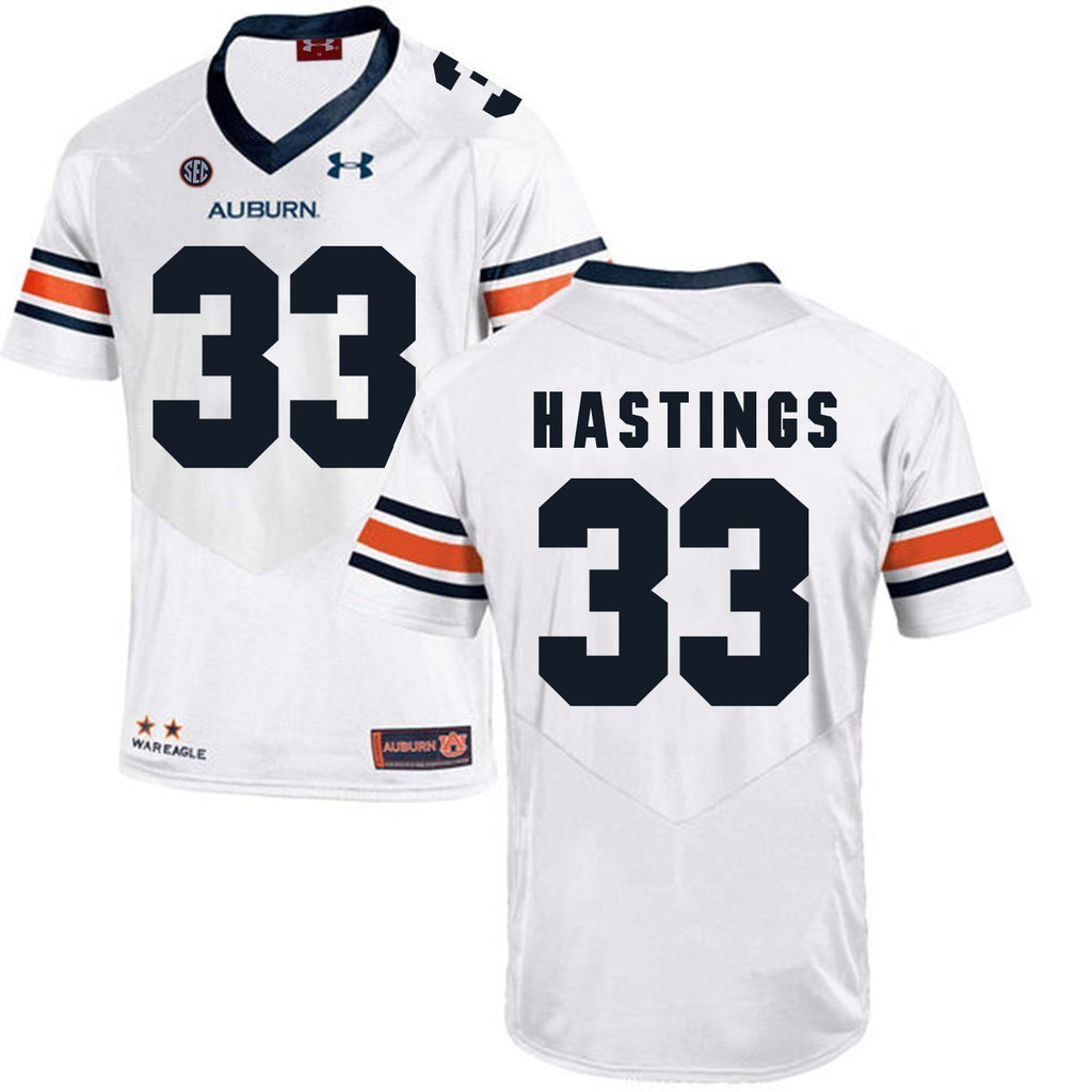 Will Hastings Auburn Tigers Football Jersey White