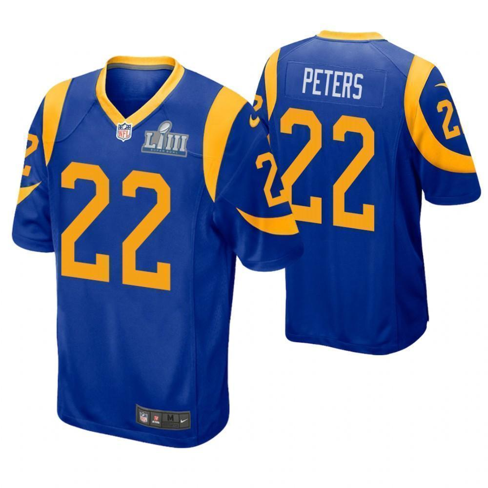 new concept 1cc53 372a9 Marcus Peters Los Angeles Rams Super Bowl LIII Game Jersey