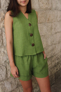 Juntos Sleeveless Top in Moss
