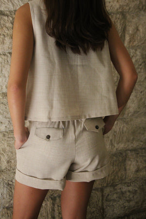 Juntos Shorts in Oat