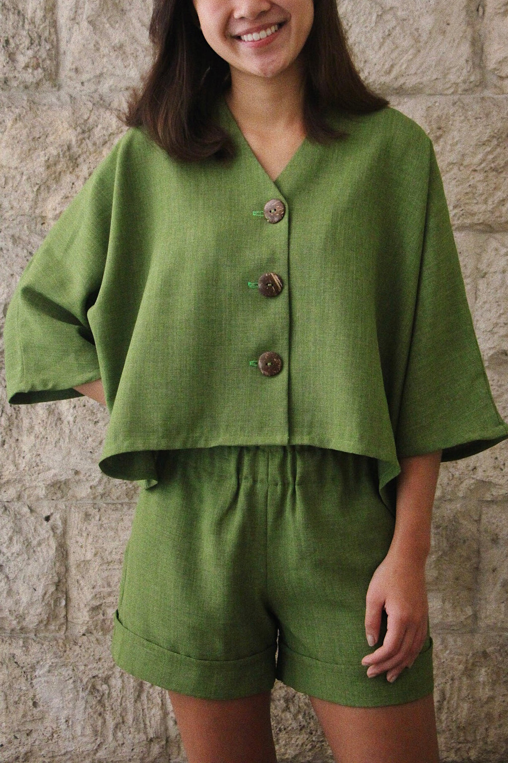 Juntos Long-sleeved Top in Moss