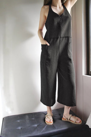 Anillo Jumpsuit in Charcoal