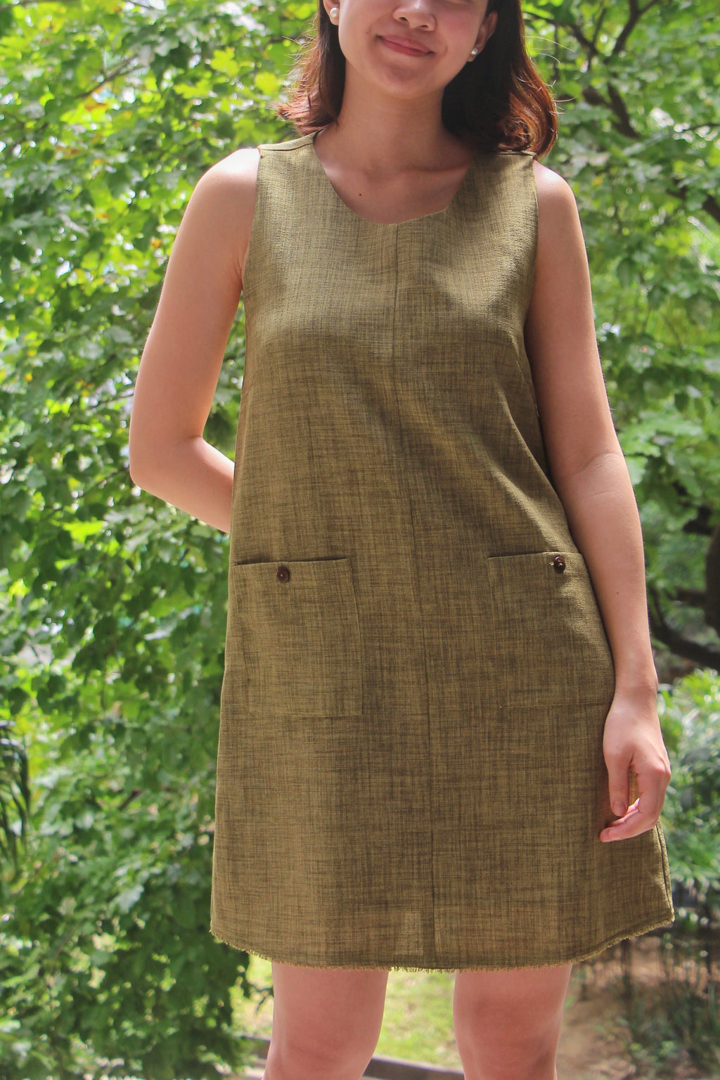Dulce Dress in Pesto