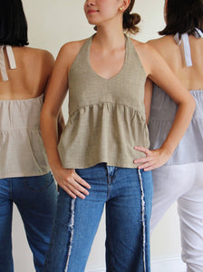 Olas Top in Olive