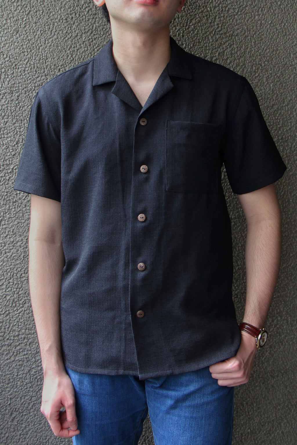 Men's Cuello Top in Charcoal