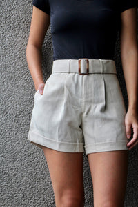 Cinturón Shorts in Oat