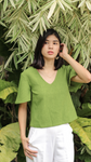 Blusa Top in Moss