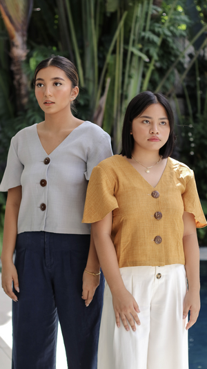Blusa Top in Ochre
