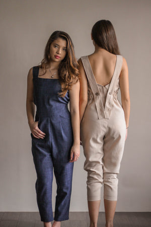 Botón Jumpsuit in Midnight