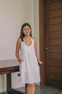 Olas Dress in Ivory