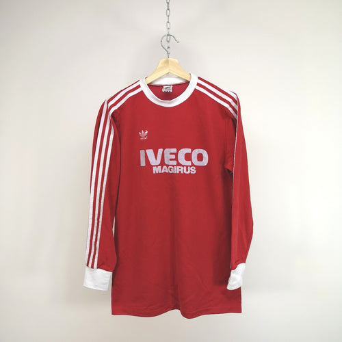 RARE COLLECTABLE Vintage 1980s Adidas Bayern Munich Home Shirt Made in West Germany.