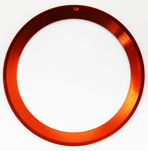 Bezel Insert Aluminum For Rolex GMT 1675/16750 - Orange Color With Silver Font